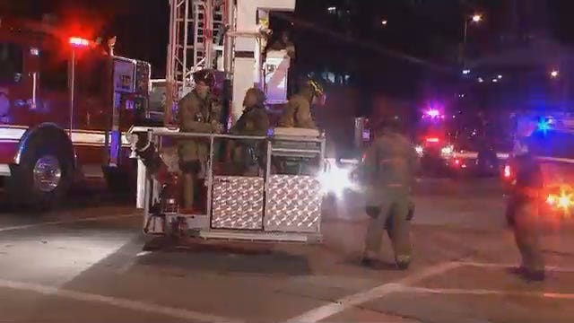 WEB EXTRA: Video From Scene Of High-Rise Rescue In Downtown Tulsa