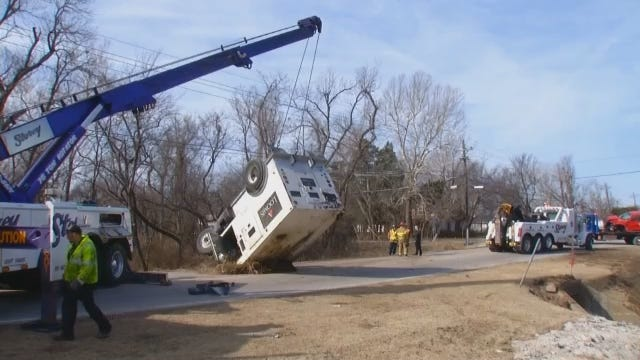 WEB EXTRA: Video From Scene Of East Tulsa Armored Truck Crash