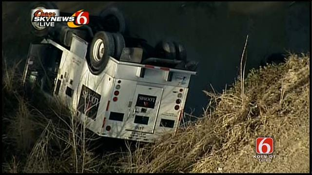 Osage SkyNews 6 Over East Tulsa Armed Truck Crash