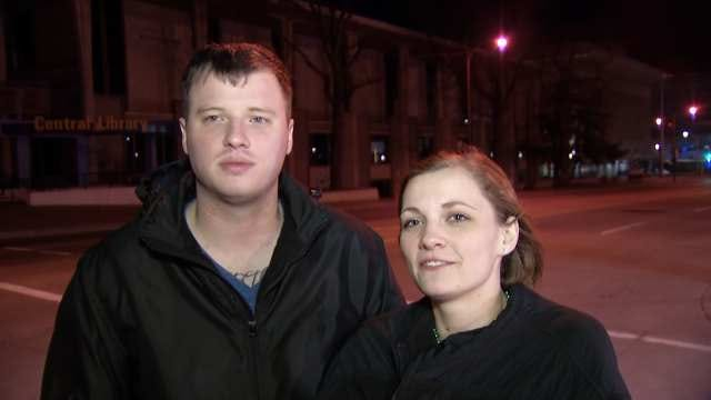 WEB EXTRA: Emily Burger And Bryan Fanster Talk About Downtown Tulsa Crash