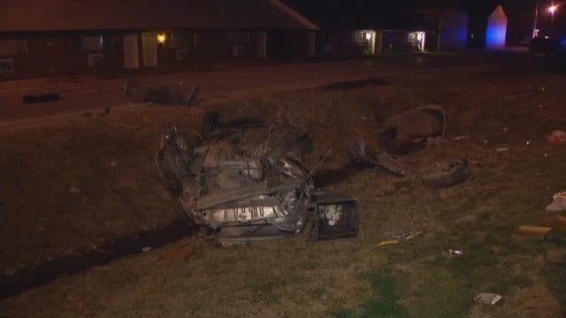 WEB EXTRA: Video From Scene Of Crash On 73rd East Avenue