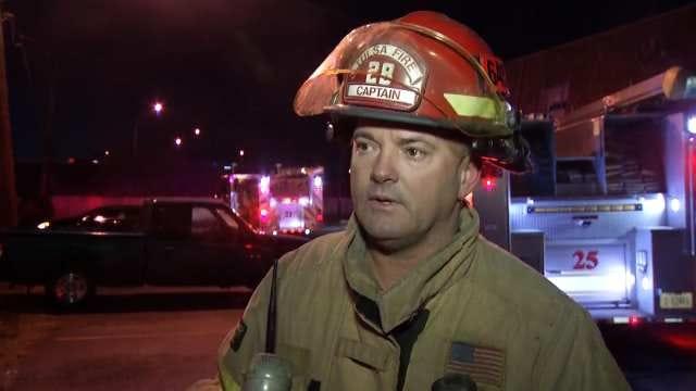 WEB EXTRA: Tulsa Fire Captain Jerry Sivandon Talks About The Fire
