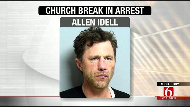 OKC Man Arrested After Falling Through Ceiling Of Tulsa Church