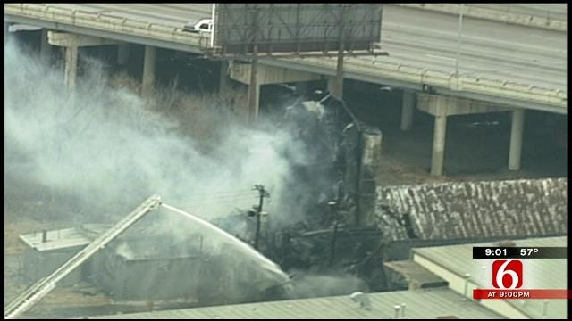 History Goes Up In Flames As Tulsa Feed Mill Burns