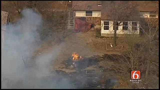 WEB EXTRA: Osage SkyNews 6 View Of Washington County Grass Fire