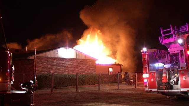 WEB EXTRA: Video From Scene Of Tulsa House Fire On 58th Street North