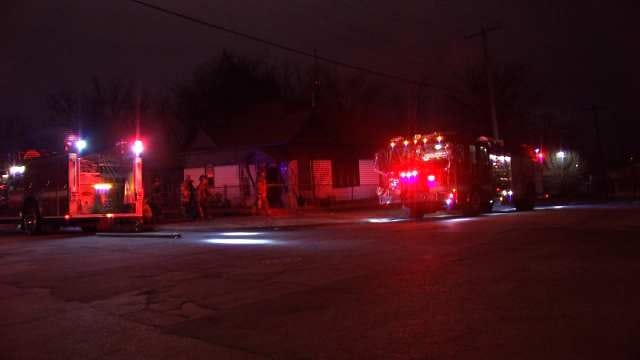 WEB EXTRA: Video From Scene Of House Fire On North Quaker In Tulsa