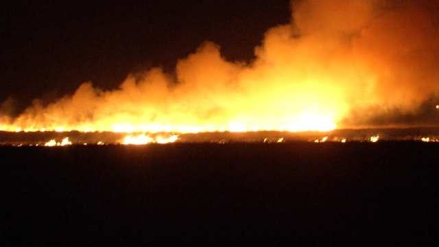 WEB EXTRA: Video From Scene Of Rural Collinsville Grass Fire