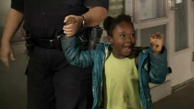 WEB EXTRA: Video Of Ky'Riana Richards After She Was Found Safe
