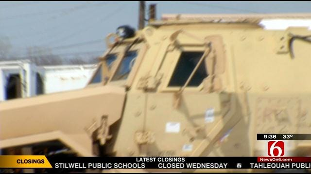 Armored Vehicle Makes Its Way To Bartlesville Police
