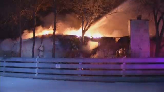 WEB EXTRA: Video From Scene Of House Fire 700 Block Of North Xanthus