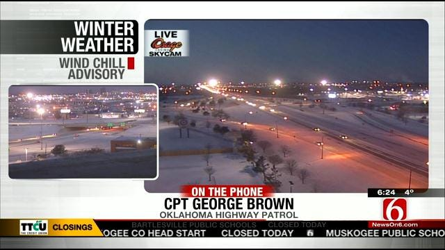 WEB EXTRA: Oklahoma Highway Patrol Captain George Brown On Road Conditions