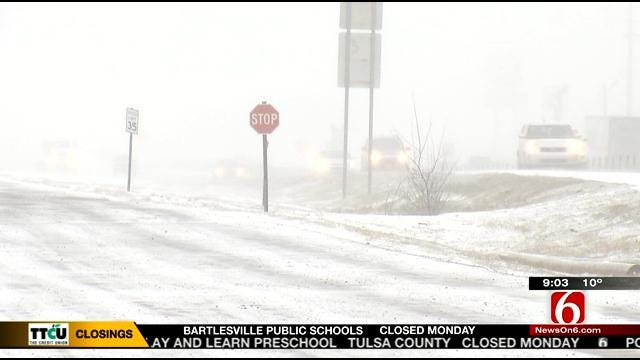 Winter Road Conditions Continue To Plague Northeastern Oklahoma Drivers