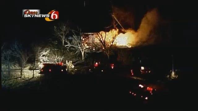 Osage SkyNews 6 Over Washington County Grass Fire