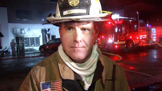 WEB EXTRA: Sand Springs Fire Chief On Downtown Fire