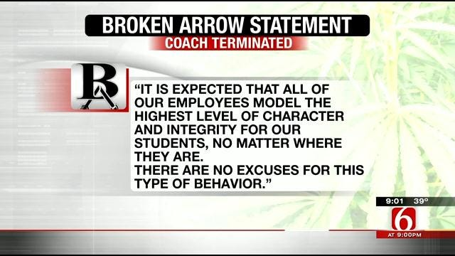 Broken Arrow Swim Coach Fired After Arrest For Selling Pot To Teenage Girl
