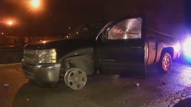 WEB EXTRA: Video From Scene At End Of Tulsa County Sheriff's Deputies Chase