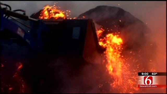Grass Fire Burns Three Wagoner County Homes