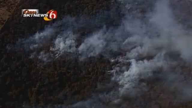 WEB EXTRA: Osage SkyNews 6 Captures Wild Fire In Prue Area