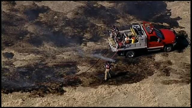 Osage SkyNews 6: Video Of North Tulsa Grass Fire