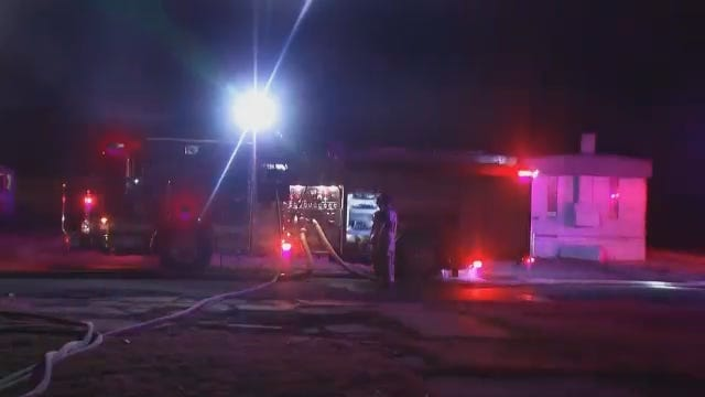 WEB EXTRA: Video From Scene Of Fatal Tulsa Mobile Home Fire