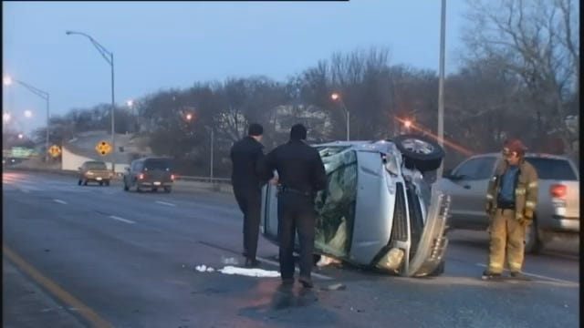 WEB EXTRA: Video From Sand Springs Expressway Crash