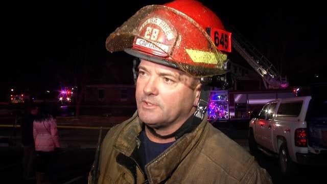 WEB EXTRA: Tulsa Fire Captain Jerry Sivadon Talks About Fire