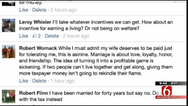 OK Talk: Should The State Offer Oklahomans Financial Incentives For Staying Married?
