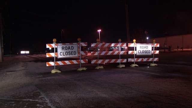 WEB EXTRA: Video Of Tulsa's Garnett Closed Because Of Water Main Break
