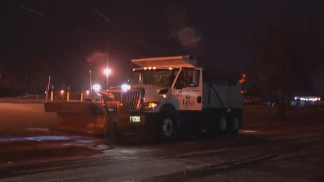 WEB EXTRA: Video Of Snow Plows In The Tulsa Area