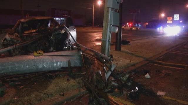 WEB EXTRA: Scenes From Tulsa Wreck At 26th And Harvard