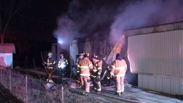 WEB EXTRA: Video From Scene Of Sand Springs Mobile Home Fire
