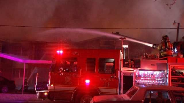 WEB EXTRA: Additional Video From Scene Of Midtown Tulsa Apartment Building Fire