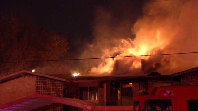 WEB EXTRA: Video From Scene Of Midtown Tulsa Apartment Building Fire