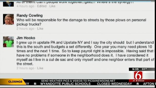 OK Talk: Who Should Plow Neighborhood Roads?
