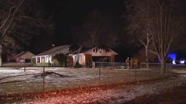 WEB EXTRA: Verdigris Home Heavily Damaged By Fire