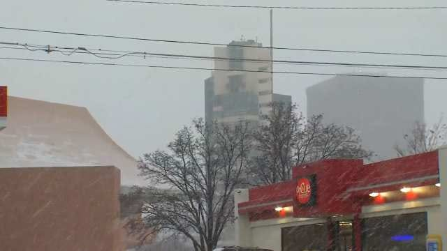 WEB EXTRA: Video Of Snow In Bartlesville At Cherokee And Adams