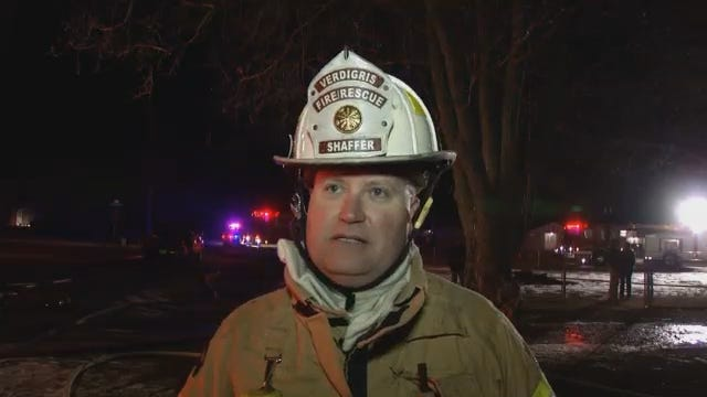 WEB EXTRA: Verdigris Fire Chief Mike Shaffer Talks About House Fire