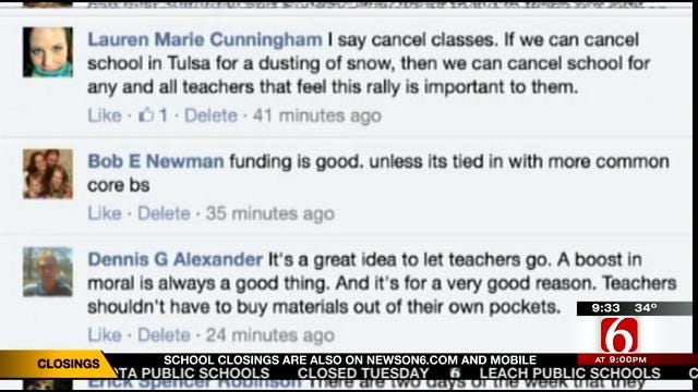 OK Talk: Should School Districts Close To Allow Teacher To Attend A Rally?