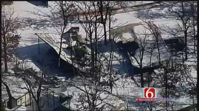 WEB EXTRA: Osage Skynews 6 Flies Over Eufaula RV Park Damaged By Fire
