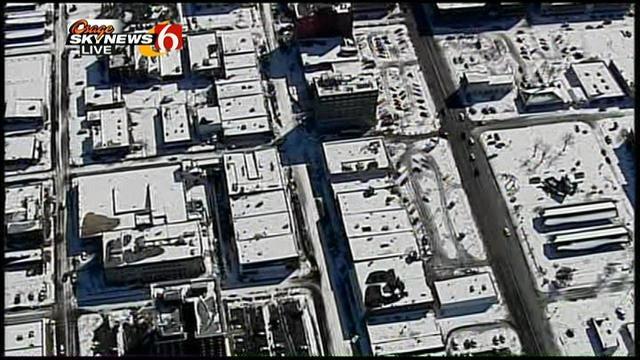 WEB EXTRA: Osage Skynews 6 Flies Over Muskogee Snow