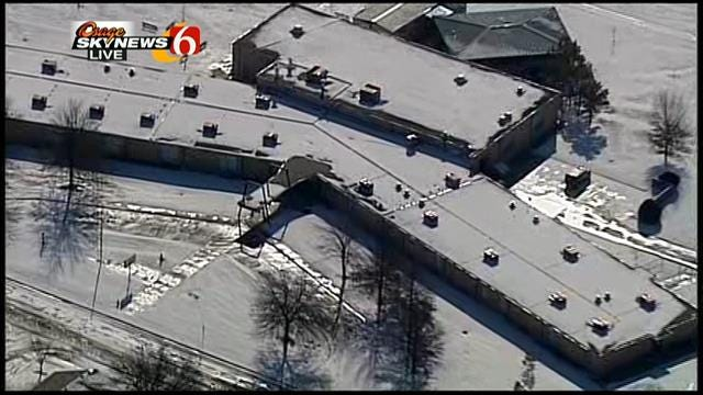 WEB EXTRA: Osage Skynews 6 Flies Over Snow-Covered Tulsa