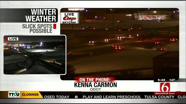 WEB EXTRA: Oklahoma Department of Transportation Spokesperson Kenna Carmon Talks Road Conditions