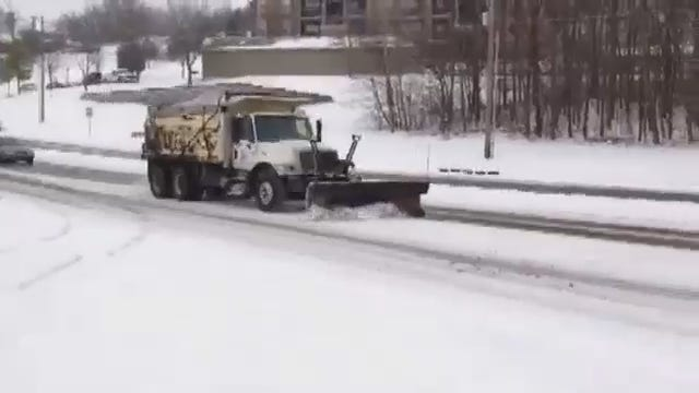 WEB EXTRA: Snow Plow At 81st And Yale
