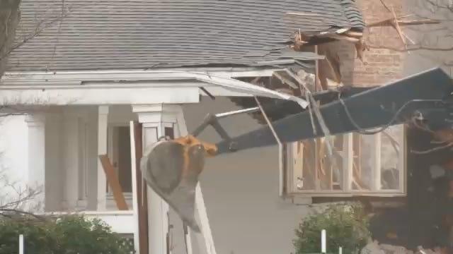 WEB EXTRA: Tulsa's Blair Mansion Demolished