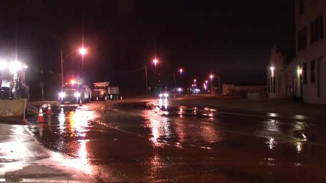 WEB EXTRA: Video From Scene Of West Tulsa Water Main Break