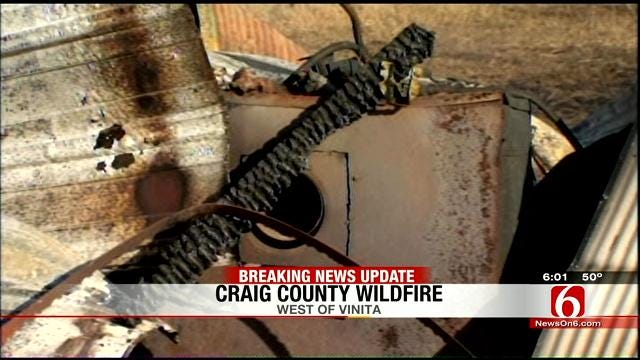 Grassfire Destroys Shed Full Of Memories For Craig County Woman