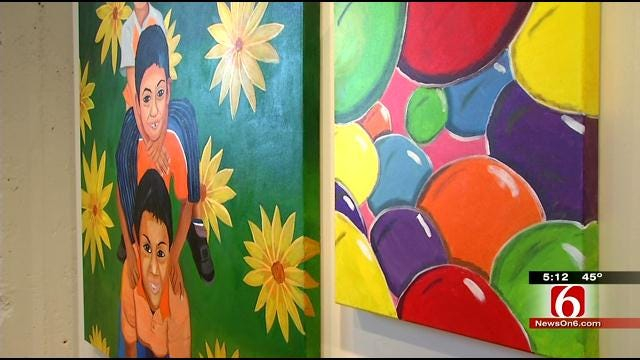 Tulsa Girls Art School Students Showcase Work In Brady District