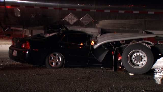WEB EXTRA: Video From Scene Of West Tulsa Car, Tanker Truck Crash