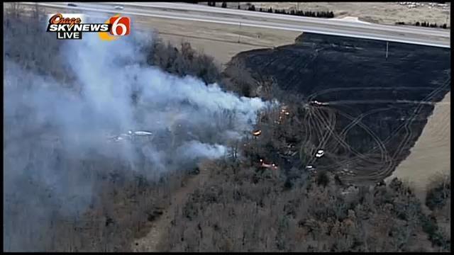 Osage Skynews 6 Flies Over Mannford Area Wildfire